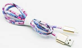 Sleva 43% - Kvalitní designový USB kabel MIZOO X28: konektory micro USB nebo lightning (Apple),…