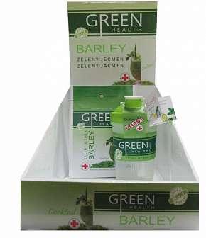 Sleva 61% - 100% přírodní zelený ječmen Green Health plný enzymů a vitamínů + shaker včetně…