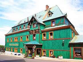Sleva 53% - Krušné Hory: 3 denní pobyt pro DVA v hotelu Zelený Dům s polopenzí.