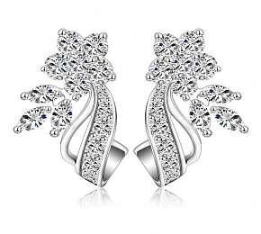 Sleva 71% - Náušnice nebo set šperků potažených vrstvou platiny či 18kt růžového zlata se…
