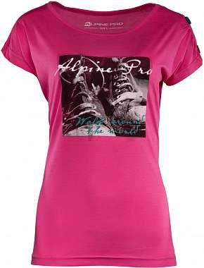Sleva 63% - Dámské triko Alpine Pro Ricca v růžové nebo černé barvě z kvalitního materiálu ve…