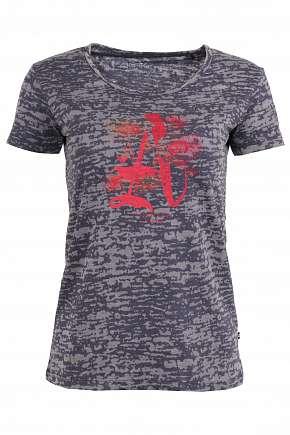 Sleva 73% - Dámské triko Alpine Pro Maxwella zdobené potiskem v bílé nebo šedé barvě ve…
