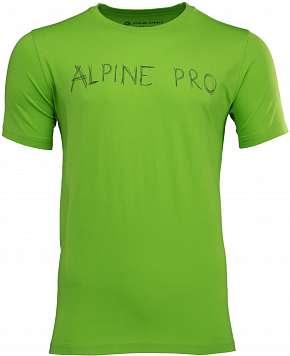 Sleva 55% - Pánské triko Alpine Pro Ryker ze 100% bavlny v zelené nebo žluté barvě ve…