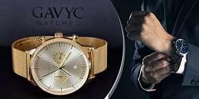 Sleva 30% - Luxusní hodinky Gavyc z řady Eternal, nastavitelný nerezový pásek, na výběr z šesti…