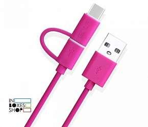 Sleva 60% - Praktický USB kabel Golf GC-20 z elastického plastu s konektorem micro USB a redukcí…