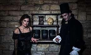 Sleva 21% - Upíří hrobka - úniková hra až pro 5 hráčů odhalující děsivé tajemství karlínského…