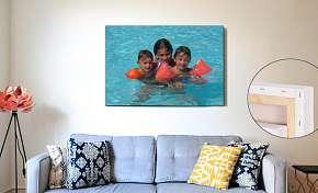 Sleva 57% - Nový šampion vašeho interiéru: fotoobraz na rámu z masivního dřeva a tiskem i po…
