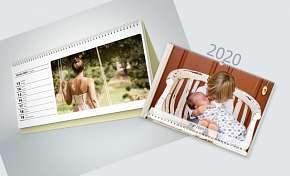 Sleva 60% - Stolní i nástěnné kalendáře z vašich fotografií na rok 2020