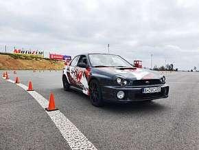 Sleva 57% - Showcars - 3 nebo 6 kol adrenalinové jízdy v Mitsubishi Lancer a Subaru Impreza na…