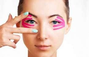 Sleva 36% - Estetické tejpování obličeje nebo prsou pro omlazení a zpevnění pokožky v salonu…