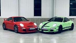 Sleva 77% - Skvělá zážitková jízda ve 2 luxusních autech Porsche 911 Carrera GT3
