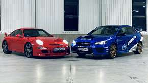 Sleva 86% - Zážitková jízda v Porsche Carrera 911 GT3 (997.1) a Subaru WRX STI
