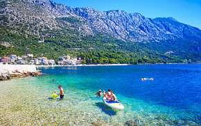 50% Chorvatsko: 10 denní pobyt na Makarské riviéře…