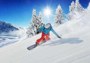 Sleva 64% - Kurz snowboardingu v Krušných horách včetně skipasu a služeb zkušeného instruktora s…