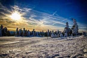 55% Zimní dovolená v Krušných horách s polopenzí,…