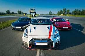 Sleva 48% - Jízda na okruhu v superautech s palivem v ceně - Ferrari, Lamborghini, Audi, Porsche…