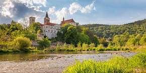 45% Relax i kultura na břehu řeky Sázavy s polopenzí…